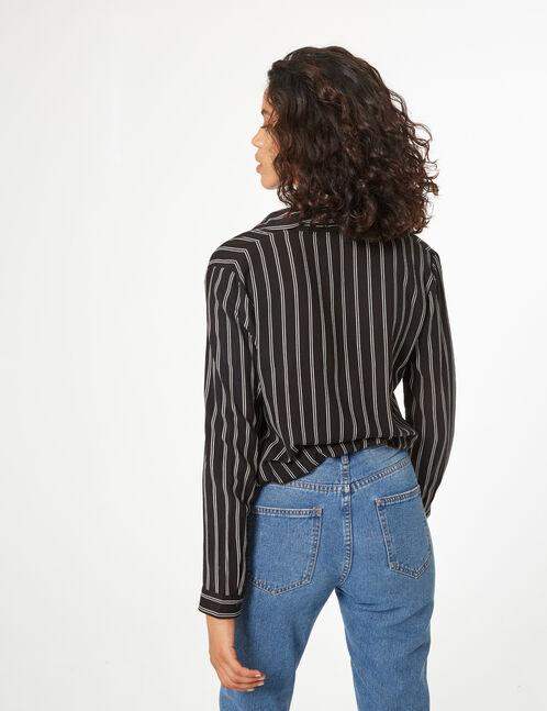 chemise avec lien à nouer