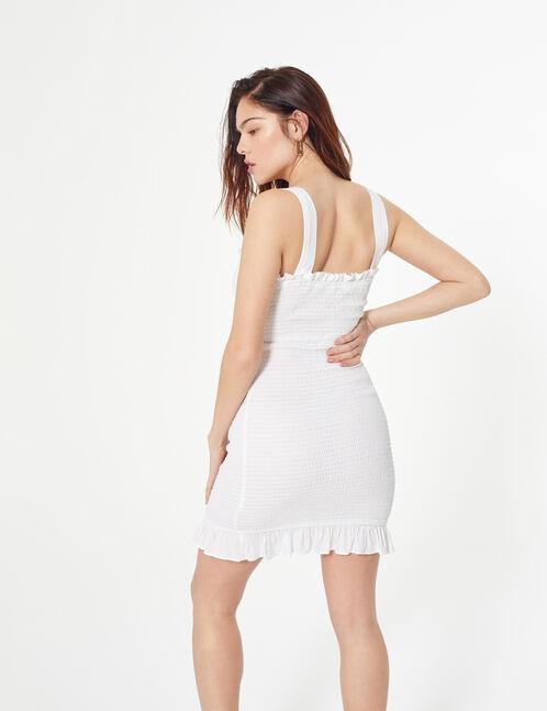 robe smockée avec laçage