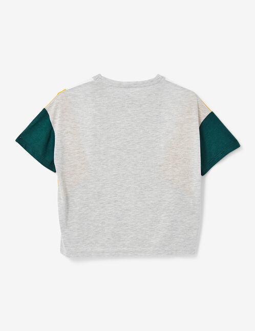 tee-shirt avec empiècements gris chiné