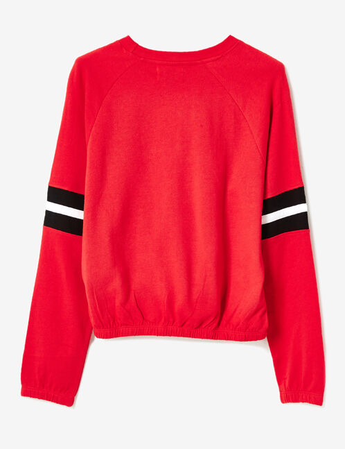 "Red ""palmstate"" sweatshirt"