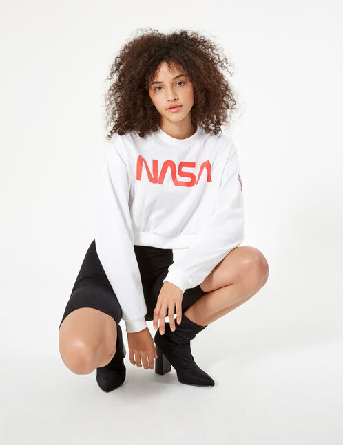 sweat nasa blanc