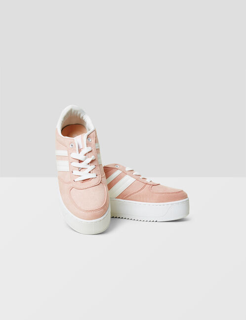 Light pink platform sole trainers
