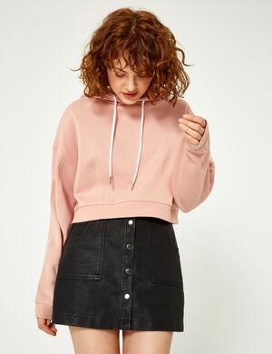jupe boutonnée noire