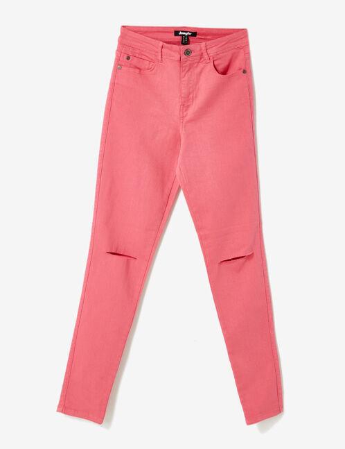 pantalon taille haute à cut fuchsia