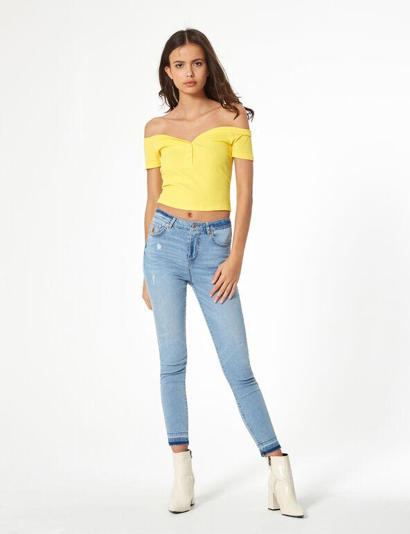 Jean skinny taille haute