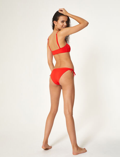 Red bikini set with lacing detail