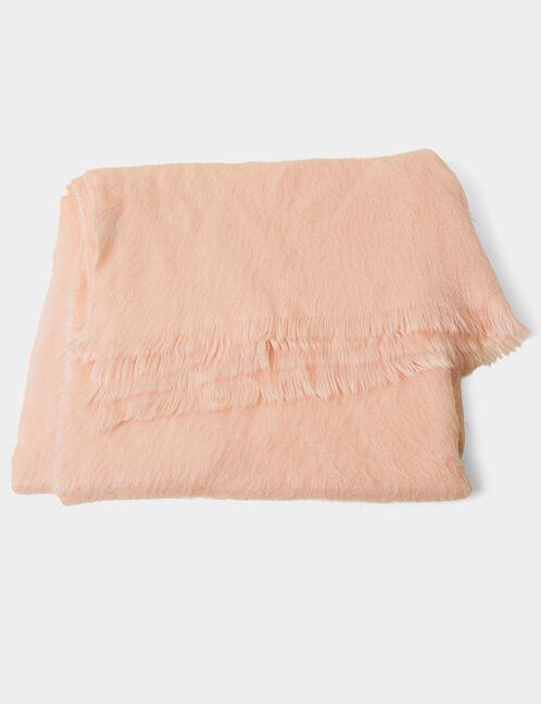 écharpe toucher cachemire rose clair