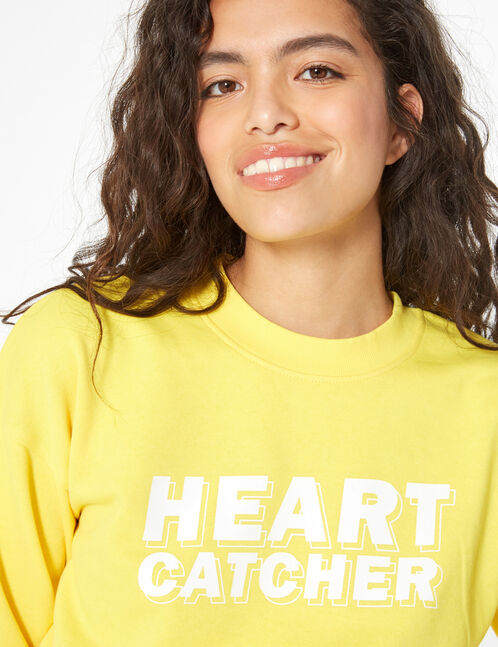 heart catcher short sweatshirt