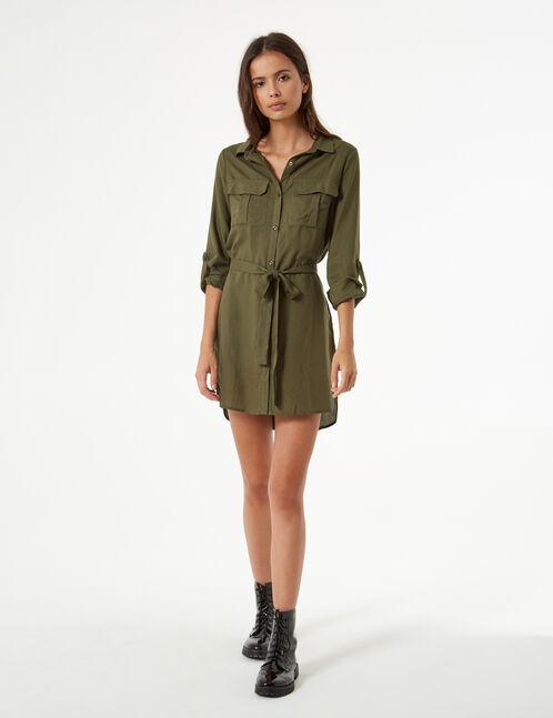 robe chemise avec lien
