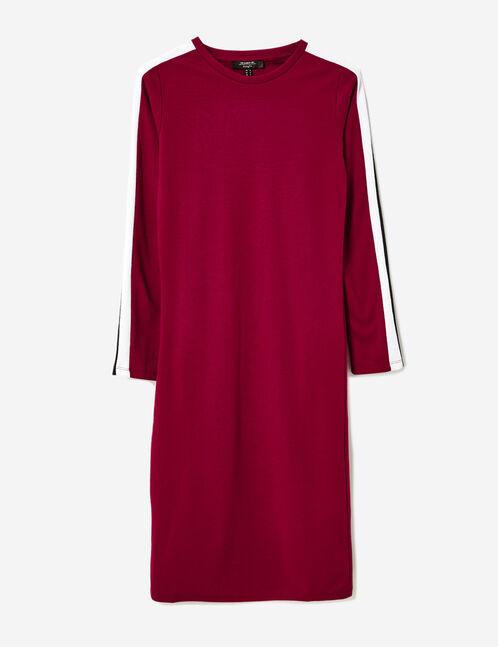 robe avec bandes bordeaux