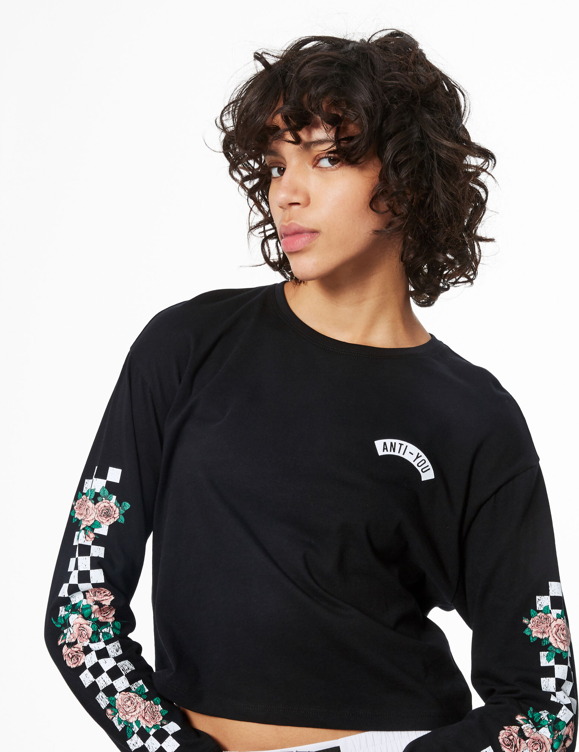 Cropped 'anti-you' T-shirt