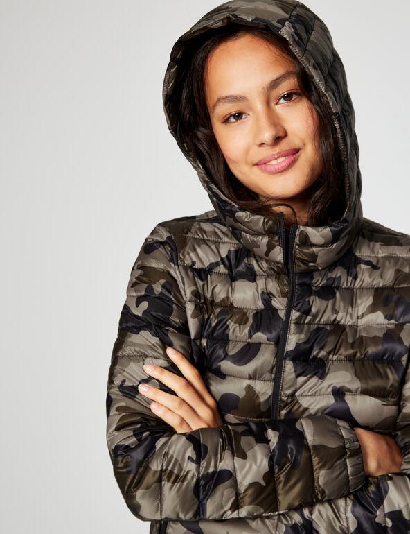Lightweight printed padded jacket