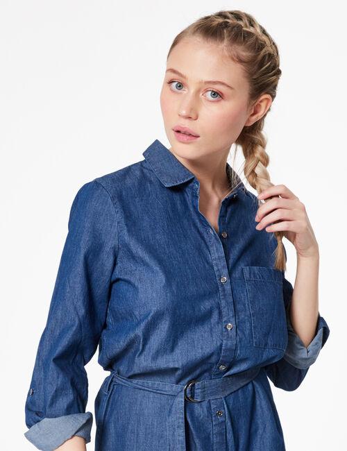 Robe chemise en jean